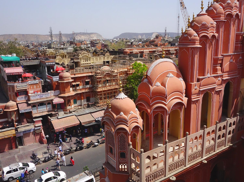 Вид на розовый город