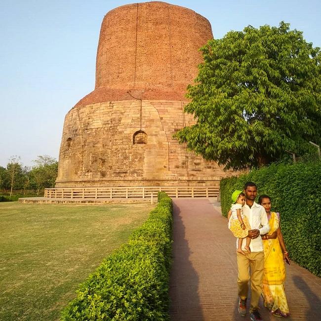 Ступа Сарнатх Индия центр буддизма